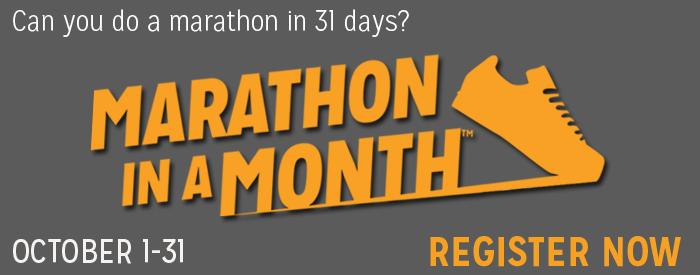 Marathon in a Month - Registration Now