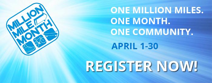 Million Mile Month 2017 - Register Now
